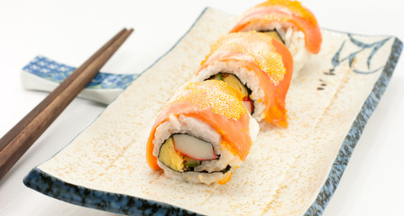 Maki Sushi - Roll made of Smoked Eel
