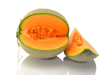Orange flesh melon Cut and polished