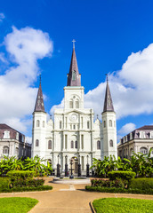 Beautiful Saint Louis Cathedral in the French Quarter
