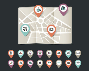 mapping pins icons travel