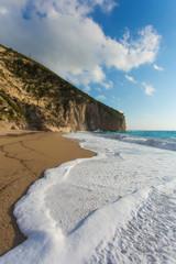 The beautiful beach of Milos (Lefkada)