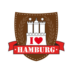 I love Hamburg Emblem_