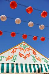 Caseta de feria, fiesta, Andalucía, España