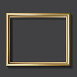 Simple golden picture frame, vector illustration - 67834469
