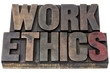 work ethics  in wood type