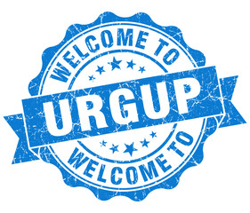 welcome to Urgup blue vintage isolated seal