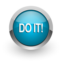do it blue glossy web icon