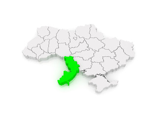 Map of Odessa region. Ukraine.