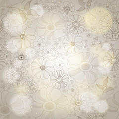 Floral background with lights