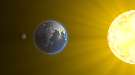Eclissi lunare, spazio terra luna sole