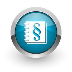 law blue glossy web icon