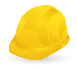 yellow construction helmet, safety first
