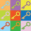 Farbige Schlüssel