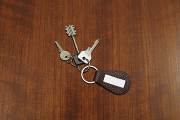 keys on walnut background #2