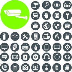 Security Device Icons set