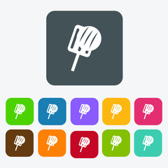 Steak grilled icons set. Rectangle colourful 12 buttons. Vector