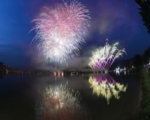 Fireworks on the Lugano Lake, Lavena-Ponte Tresa