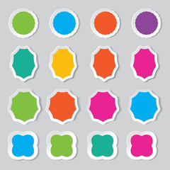 set of blank colorful paper. vector.