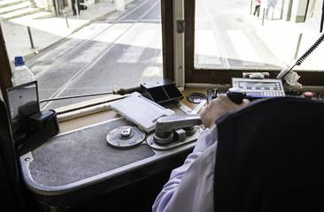 Steering tram