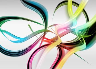 kolorowe abstrakcyjne fale