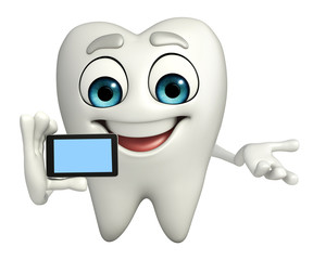 Teeth character with mobile
