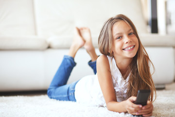 Child watching tv