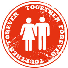Together Forever Button 2207
