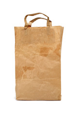 worn paper shopping bag