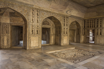 Interior of Agra Fort in India