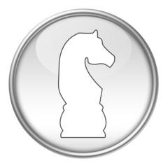 Bottone scacchi cavallo bianco