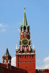 Moscow Kremlin. Spasskaya clock tower. UNESCO Heritage.