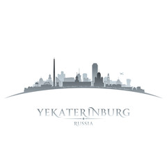 Yekaterinburg Russia city skyline silhouette white background