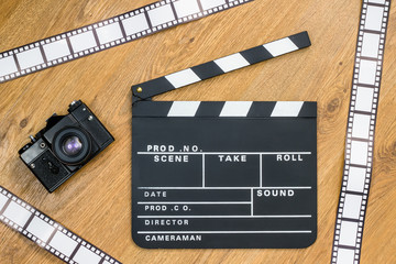 Movie production clapper