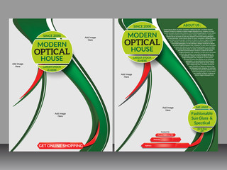 Optical House Flyer Template