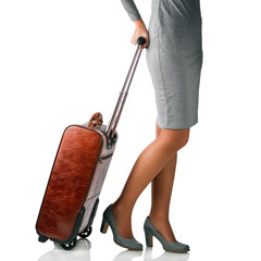 Woman travelling on business