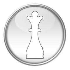 Bottone scacchi regina bianca