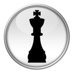 Bottone scacchi re nero