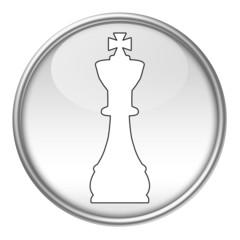 Bottone scacchi re bianco