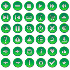 Зеленые кнопки