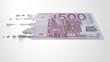 Euro Melting Dripping Banknote
