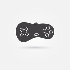 Vector minimal gamepad icon