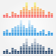 Vector minimal sound waves icons