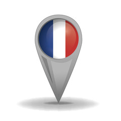 France, Location, French Flag (vector Art)