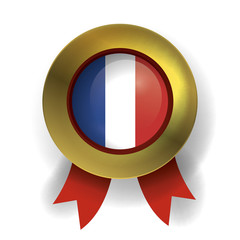 France Seal, French Ribbon Flag (Vector Art)