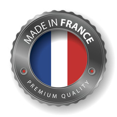 Made in France, French Flag (vector Art)