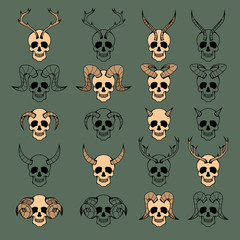 10 Evil Skull Collection