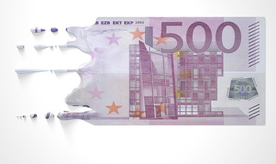 Euro Melting Dripping Banknote