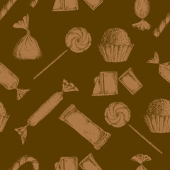 Vintage candy background