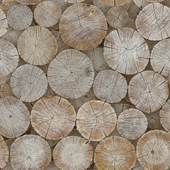The background of logs. Seamless image