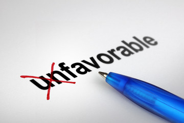 Changing the meaning of word. Unfavorable into Favorable.